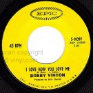 PIC+ REC EPIC 5-10397 BOBBY VINTON love How You Love Me