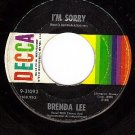 DECCA 31093 BRENDA LEE I'm Sorrry/That's All You Gotta