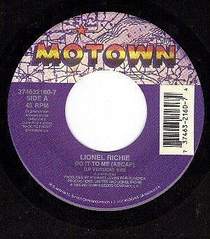 NM 45 rpm MOTOWN LIONEL RITCHIE Do It To Me (Ascap)