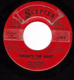 SCEPTER 1208 SHIRELLES Dance Is Over/Tonights The Night
