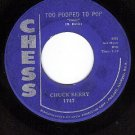 CHESS 1747 CHUCK BERRY Too Pooped To Pop ~ Let It Rock