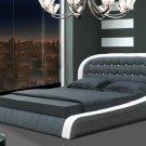 Modern Denmark leather Platform Bed (Queen size)