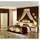 Barocco Classic Bedroom Set in Ivory and Gold