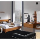 Brescia Complete Modern Natural Wood Bedroom Set (Queen/King)