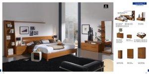 Brescia Complete Modern Natural Wood Bedroom Set (Queen/King)