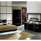 Chic LED Bedroom Set La Star with Leather Accents Italian Made