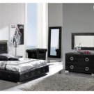 Coco Modern Bedroom Set in Black - King Size