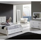 Coco Modern Bedroom Set in White - King Size