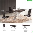 Contemporary Dining 5 PC Set in Wenge Finish