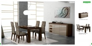 Irene Modern 5pc Lacquered Dining Room Set