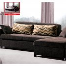 Modern Brown Fabric Sleeper Sectional