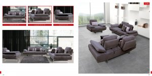 Modern Fabric Living Room Sofa Set with Adjustable Back