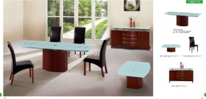 Modus Dining 5 PC Room Set with Frosted Glass Top