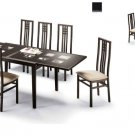 Poker Cappuccino Table and Four Scala Chairs