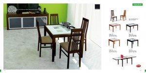 Poker Wenge Finish Glass 5 PC Dining Room Set