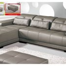 Sectional 6008 in Full Leather with Adjustable Headrests