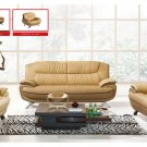Stylish Living Room Set with Decorative Stitching