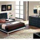 Toledo Black Color Bedroom Set with Platform Bed