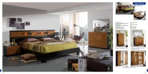 Ultra-Modern Glossy Bedroom Set Sal Collection Made in Spain