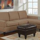 Microfiber Sectional Sofa Fusion Style Saddle