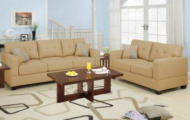 Leather Sofa and Loveseat Set Bradington Style Khaki