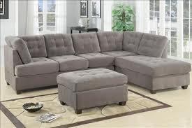 Vista 2-Piece Sectional Suede Sofa Charcoal