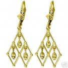 DD-1851Y: 14K. SOLID GOLD CHANDELIERS EARRINGS