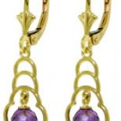 DD-4140W: 14K. SOLID GOLD EARRINGS WITH NATURAL AMETHYSTS