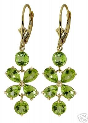 DD-1516Y: 14K. SOLID GOLD EARRINGS WITH NATURAL PERIDOT