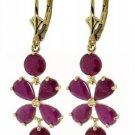 DD-1689Y: 14K. SOLID GOLD CHANDELIER EARRINGS WITH NATURAL RUBY