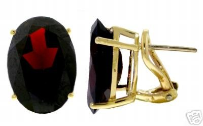 DD-1881: 14K. GOLD FRENCH CLIPS EARRINGS W/NATURAL GARNETS