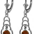 DD-4143Y: 14K. SOLID GOLD EARRINGS WITH NATURAL GARNETS