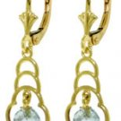 DD-4141W: 14K. SOLID GOLD EARRINGS WITH NATURAL BLUE TOPAZ