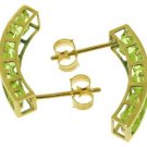 DD-3514Y: 14K. SOLID GOLD EARRINGS WITH NATURAL PERIDOTS