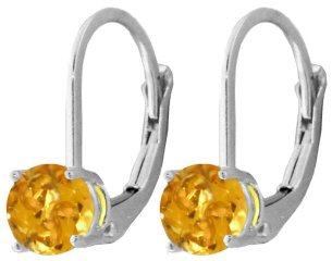 DD-SS-4024: SILVER LEVER BACK EARRINGS WITH NATURAL CITRINES