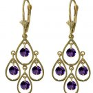 NATURAL AMETHYST LEVER-BACK EARRINGS IN 14K YELLOW GOLD