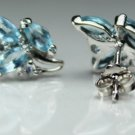 """""""925.SOLID SILVER STUD EARRING WITH  NATURAL GENUINE TOPAZ"""