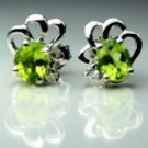 925.SOLID SILVER STUD EARRING WITH  NATURAL GENUINE PERIOD