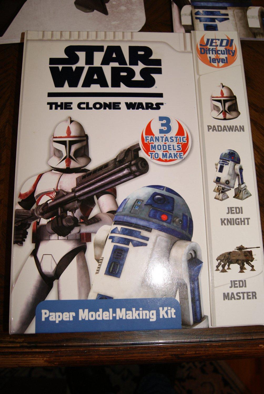 Star Wars The Clone Wars Paper Modeling Making Kit