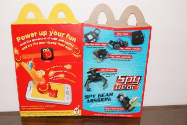 spy gear happy meal box