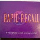 Rapid Recall game