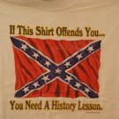 Battle flag,...if this shirt offends you... tee
