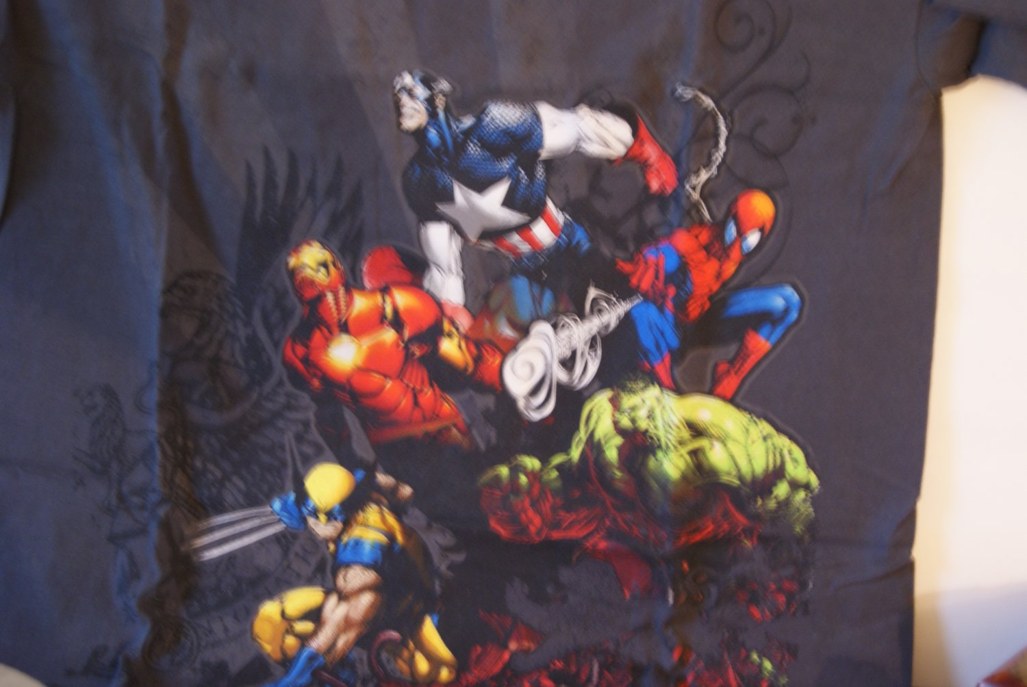 Marvel heroes in attack mode tee