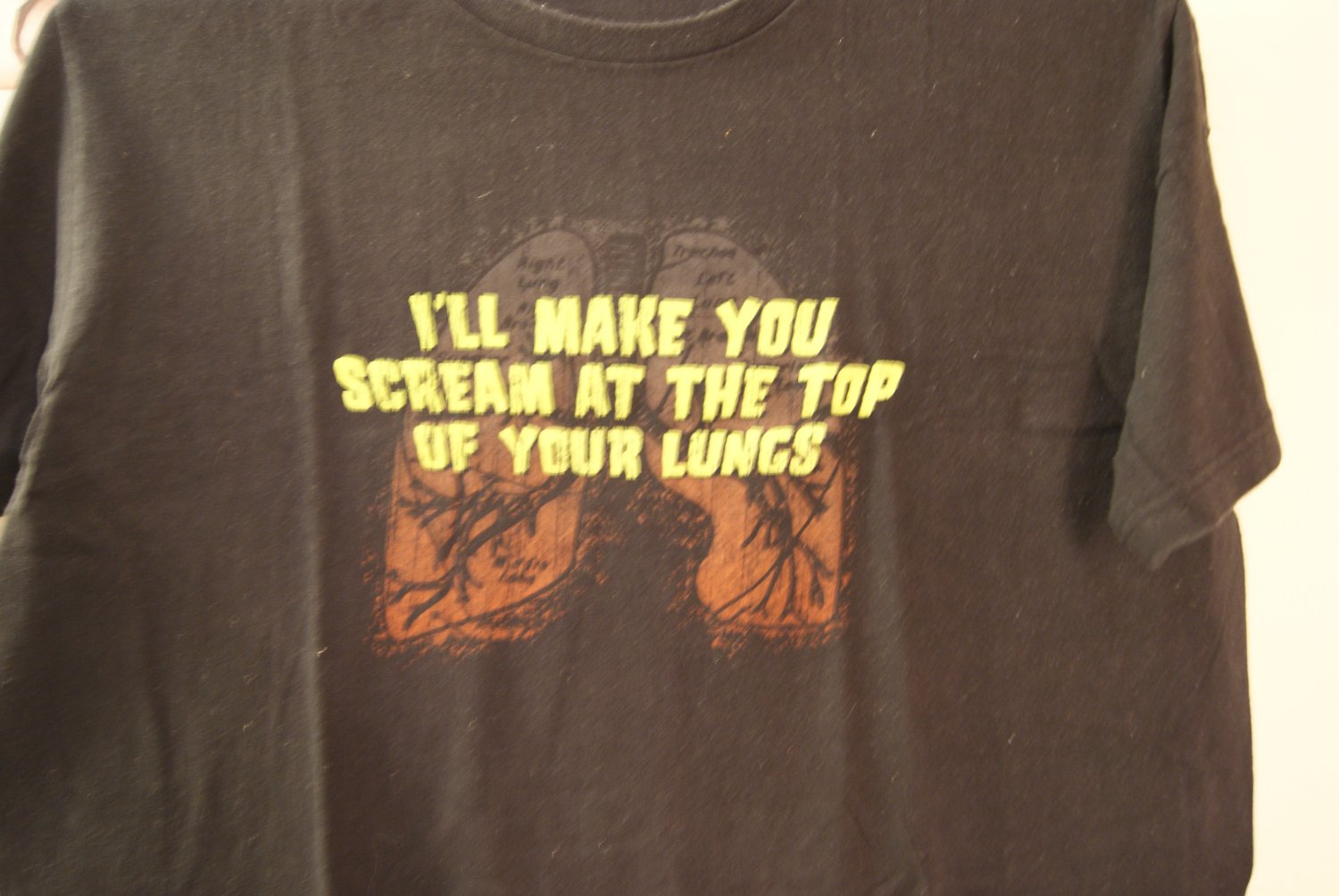 I'll make you scream at the top of your lungs tee