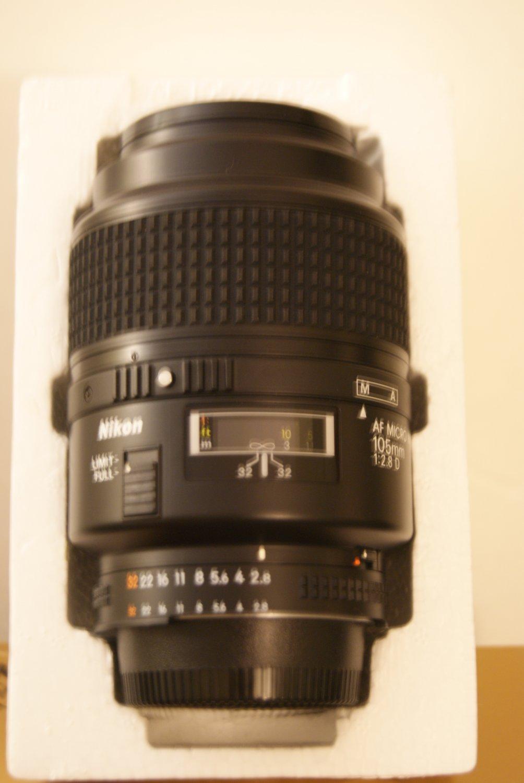 Nikon / Nikkor AF Micro-Nikkor 105 mm f/2.8 D lens