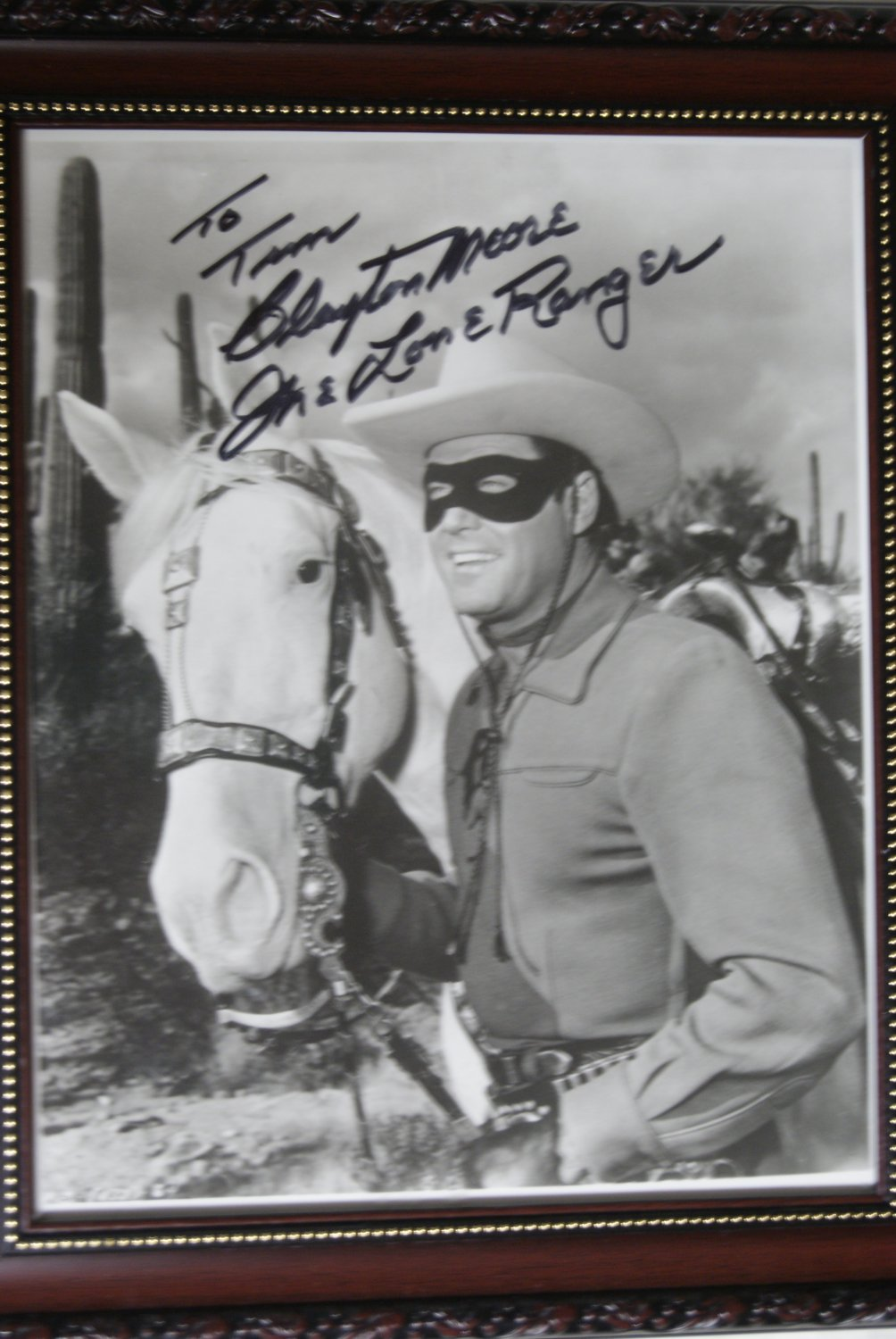 Clayton Moore / The Lone Ranger autograph