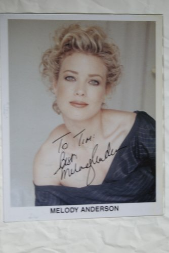 Melody Anderson autographed photograph