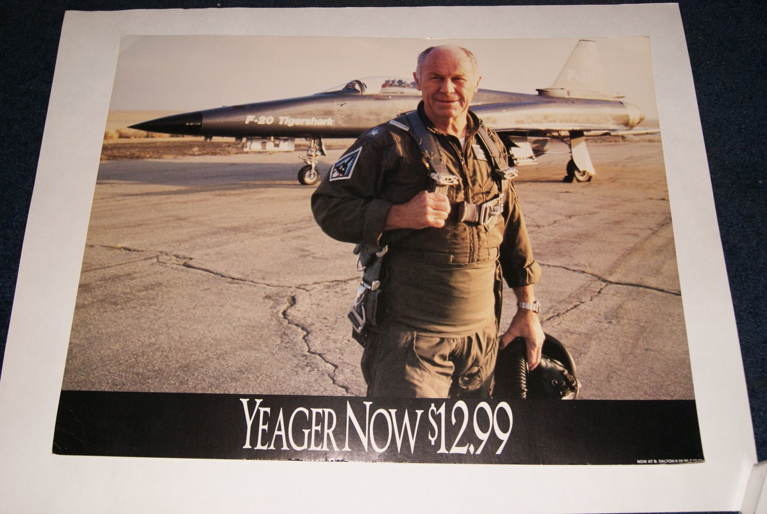 Chuck Yeager placard / poster
