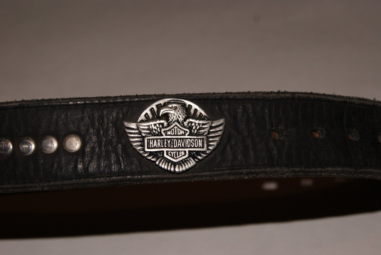 Harley Davidson belt / w 'biker' / trucker wallet.