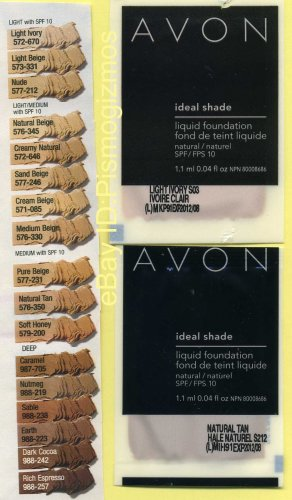 Avons Ideal Shade Liquid Foundation Sample-Golden!